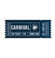 happy brazilian carnival day blue carnival show vector image vector image