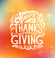 Happy Thanksgiving Day logotype badge and icon vector image vector image