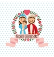 Holy family icon Merry Christmas design vector image vector image