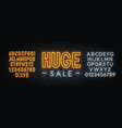 huge sale neon sign on brick wall background vector image vector image