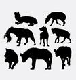 Hyena mammal wild animal silhouette 3 vector image vector image