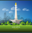 jakarta big city vector image