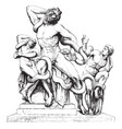 laocoon was made by agesander vintage engraving vector image vector image