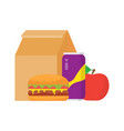 lunch box to school vector image