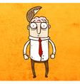 Man with Open Brain Cartoon vector image vector image