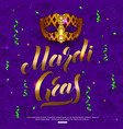 mardi gras carnival mask background with confetti vector image vector image