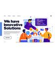 modern flat design innovative solution vector image