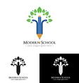 Modern School Logo vector image vector image