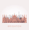 outline brighton skyline with landmarks vector image vector image