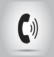 phone icon contact support service sign on gray vector image vector image