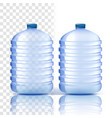 plastic bottle clean cover bluer classic vector image vector image