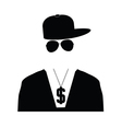 rap singer in black vector image