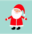 santa claus wearing red hat costume big beard vector image vector image