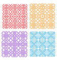 seamless geometric line pattern in korean style vector image vector image