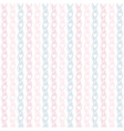 seamless geometric pattern with hearts vertical vector image
