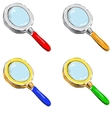 Set of magnifying glasses vector image