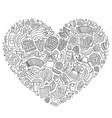 set of oktoberfest cartoon doodle objects vector image vector image