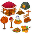 set of useful and decorative elements for garden vector image vector image