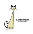 siamese cat sketch for your design vector image vector image