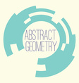 Simple abstract geometry figure for your text logo vector image vector image