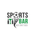 soccer sports bar football beer pub icon vector image vector image