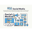Social Media and Network Marketing vector image