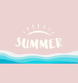 summer beach ocean isolated vector image