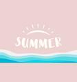 summer beach ocean isolated vector image vector image