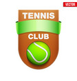 tennis badge and label vector image vector image