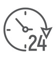 twenty four hour line icon e commerce vector image vector image