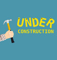 under construction page sign vector image vector image