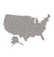 united states of america map abstract schematic vector image