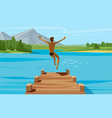 vacation weekend relax concept young man vector image vector image