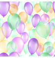balloons seamless pattern background beautiful vector image