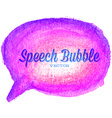 watercolor drawn purple speech bubble vector image