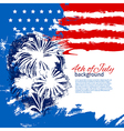 4th of July background with American flag vector image