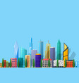 detailed flat city vector image