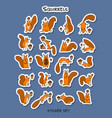 funny squirrels sticker set for your design vector image