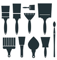 Brushes Icons Set - Brush Isolated on White vector image