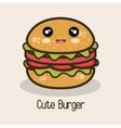 icon cartoon burger design vector image