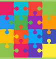 16 colorful background puzzle jigsaw banner vector image vector image