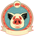 pig head label