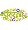 a spring text letter vector image