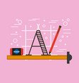 activities work equipment vector image