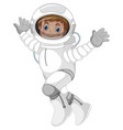 an astronaut character on white background vector image