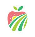 apple farm logo vector image