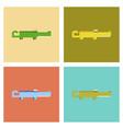 assembly flat icons cartoon crocodile vector image vector image