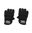 Black martial arts gloves vector image