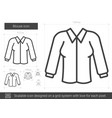 blouse line icon vector image vector image