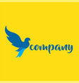 blue bird flying logo vector image vector image